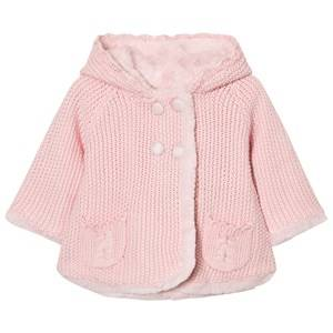 Image of Mayoral Girls Jumpers and knitwear Pink Pink Pom Pom Knitted Cardigan