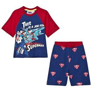 Fabric Flavours Boys Nightwear Blue Blue/Red Superman Comic Pyjamas