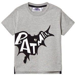Fabric Flavours Boys Tops Grey Grey Batman Applique Tee