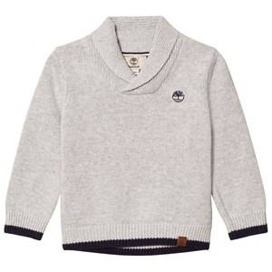 Timberland Boys Jumpers and knitwear Grey Grey Shawl Collar Branded Sweater