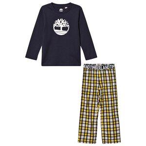 Timberland Boys Nightwear Multi Navy/Yellow Check Branded Pyjamas