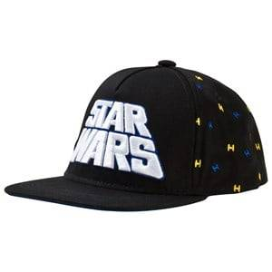 Fabric Flavours Boys Headwear Black Black Star Wars Retro Logo Cap