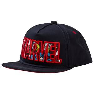 Fabric Flavours Boys Headwear Navy Navy Marvel Logo Character Cap