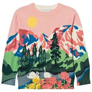 Stella McCartney Kids Girls Jumpers and knitwear Pink Pink Cassius Mountain Jumper