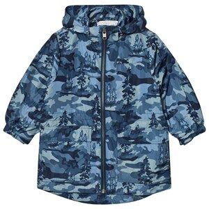 Stella McCartney Kids Boys Coats and jackets Blue Blue Beck Landscape Camo Parka