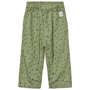 Indikidual Girls Bottoms Green Dark Green Dash Print Harem Trousers