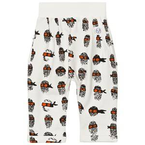 Indikidual Boys Bottoms White White Finger Print Harem Trousers