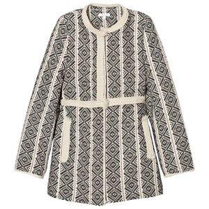 Chloé Girls Coats and jackets Black Black/White Jacquard Coat