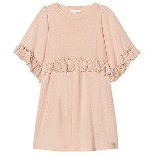Image of Chloé Girls Dresses Pink Pale Pink Knit Dress Tassels