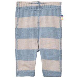 Joha Unisex Bottoms Blue Wide Stripe Leggings Blue