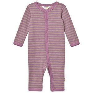 Joha Unisex All in ones Purple Purple Striped One-Piece