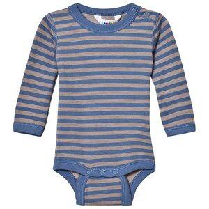 Joha Unisex All in ones Blue Long Sleeve Striped Baby Body Blue