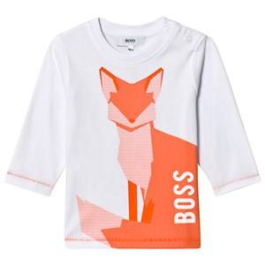 Boss Boys Tops White White/Orange Fox Print Tee