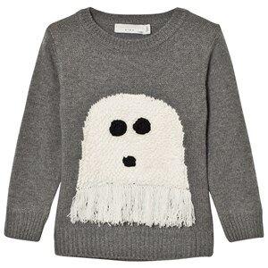 Stella McCartney Kids Boys Jumpers and knitwear Grey Grey Ghost Intarsia Jumper