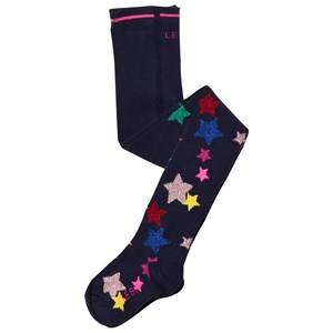 Le Big Girls Underwear Navy Navy Star Print Tights
