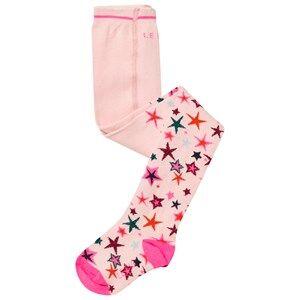 Le Big Girls Underwear Pink Pink Star Print Tights