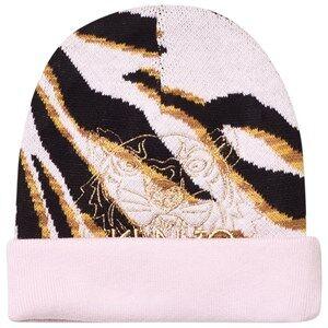 Kenzo Girls Headwear Pink Pink Tiger Embroidered Beanie
