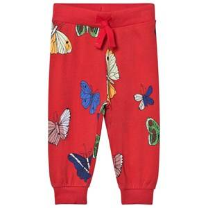 Mini Rodini Unisex Bottoms Red Butterflies Sweatpants Red