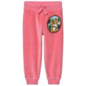 Mini Rodini Unisex Bottoms Pink Fox Velour Sweatpants Pink