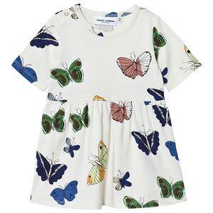 Mini Rodini Girls Dresses White Butterflies Dress Off White