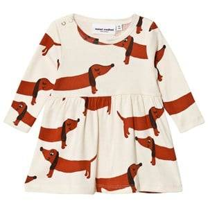 Mini Rodini Girls Dresses White Dog Dress Off White