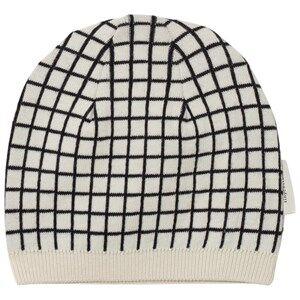 Tinycottons Unisex Headwear Beige Grid Beanie Beige/Black