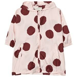 Image of Tinycottons Unisex Coats and jackets Pink Pom Poms Windbreaker Pale Pink/Bordeaux