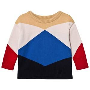 Tinycottons Unisex Jumpers and knitwear Beige Geometric Sweater Nude/Light Pink/Blue/Dark Navy/Red