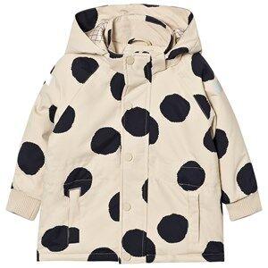 Image of Tinycottons Unisex Coats and jackets Beige Pom Poms Snow Jacket Beige/Black