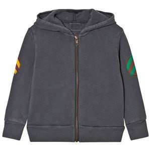 Bobo Choses Unisex Jumpers and knitwear Grey Fish Hooded Sweatshirt