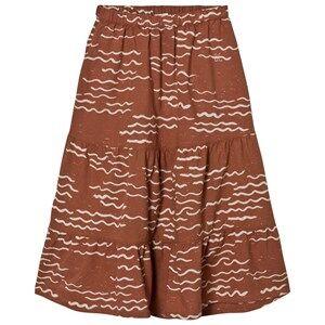 Bobo Choses Girls Skirts Orange Long Skirt Tide