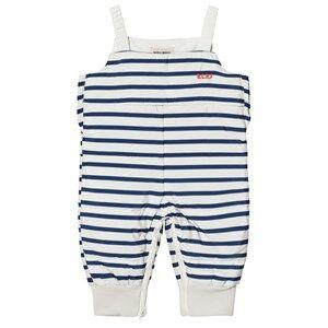 Bobo Choses Boys Bottoms Blue Padded Overall Navy Stripes