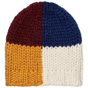 Bobo Choses Unisex Headwear Beige Multicolor Square Beanie