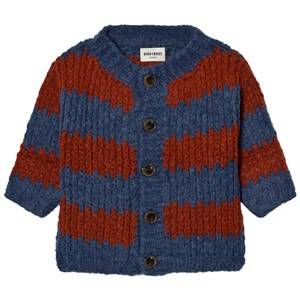 Bobo Choses Unisex Jumpers and knitwear Blue Knitted Cardigan Big Stripes