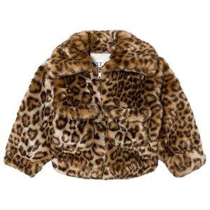 Caroline Bosmans Unisex Coats and jackets Yellow Fake Fur Jacket Leopard