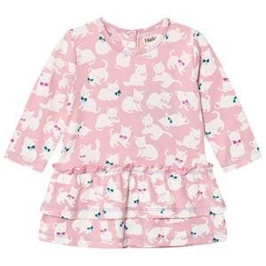 Hatley Girls Dresses Pink Pink Kittens Layered Dress