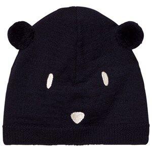 Petit Bateau Unisex Headwear Blue Bear Beanie Marine