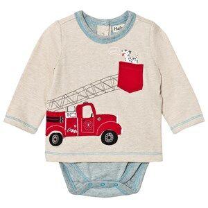 Hatley Boys Tops Beige Beige Fire Truck Baby Body