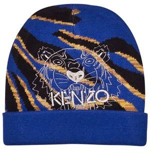 Kenzo Boys Headwear Blue Blue Tiger Embroidered Beanie