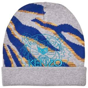 Kenzo Girls Headwear Grey Grey Tiger Embroidered Beanie
