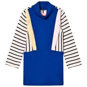 BANG BANG Copenhagen Girls Dresses Blue Blue Stripe Collared Paris Knit Dress