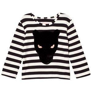 BANG BANG Copenhagen Boys Tops Black Black/White Stripe Panther Stripe Tee