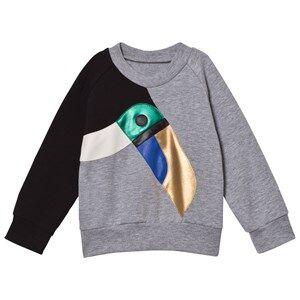 BANG BANG Copenhagen Girls Jumpers and knitwear Grey Grey Toucan Applique Sweatshirt