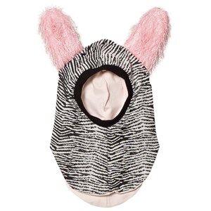 BANG BANG Copenhagen Girls Headwear Grey Black/White Fluffy Ear Curious Balaclava
