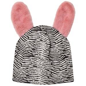 BANG BANG Copenhagen Girls Headwear Black Black/White Jump Around Fluffy Ear Beanie