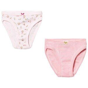Petit Bateau Girls Underwear White Pink Panties (2 Pack)