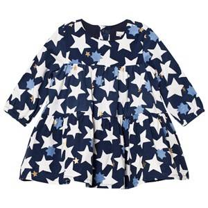 Catimini Girls Dresses Navy Blue Star Micro-Cord Dress
