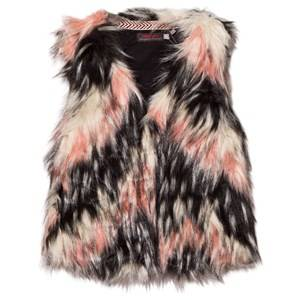 Catimini Girls Coats and jackets Pink Pink Textured Faux Fur Gilet