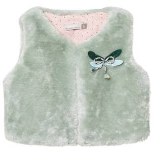 Catimini Girls Coats and jackets Green Aqua Faux Fur Gilet