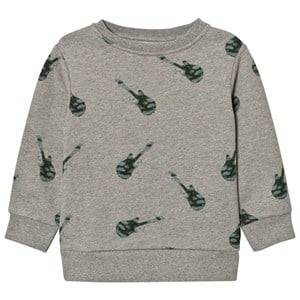 One We Like Unisex Jumpers and knitwear Grey Basic Gitarr Sweatshirt Grey Melange